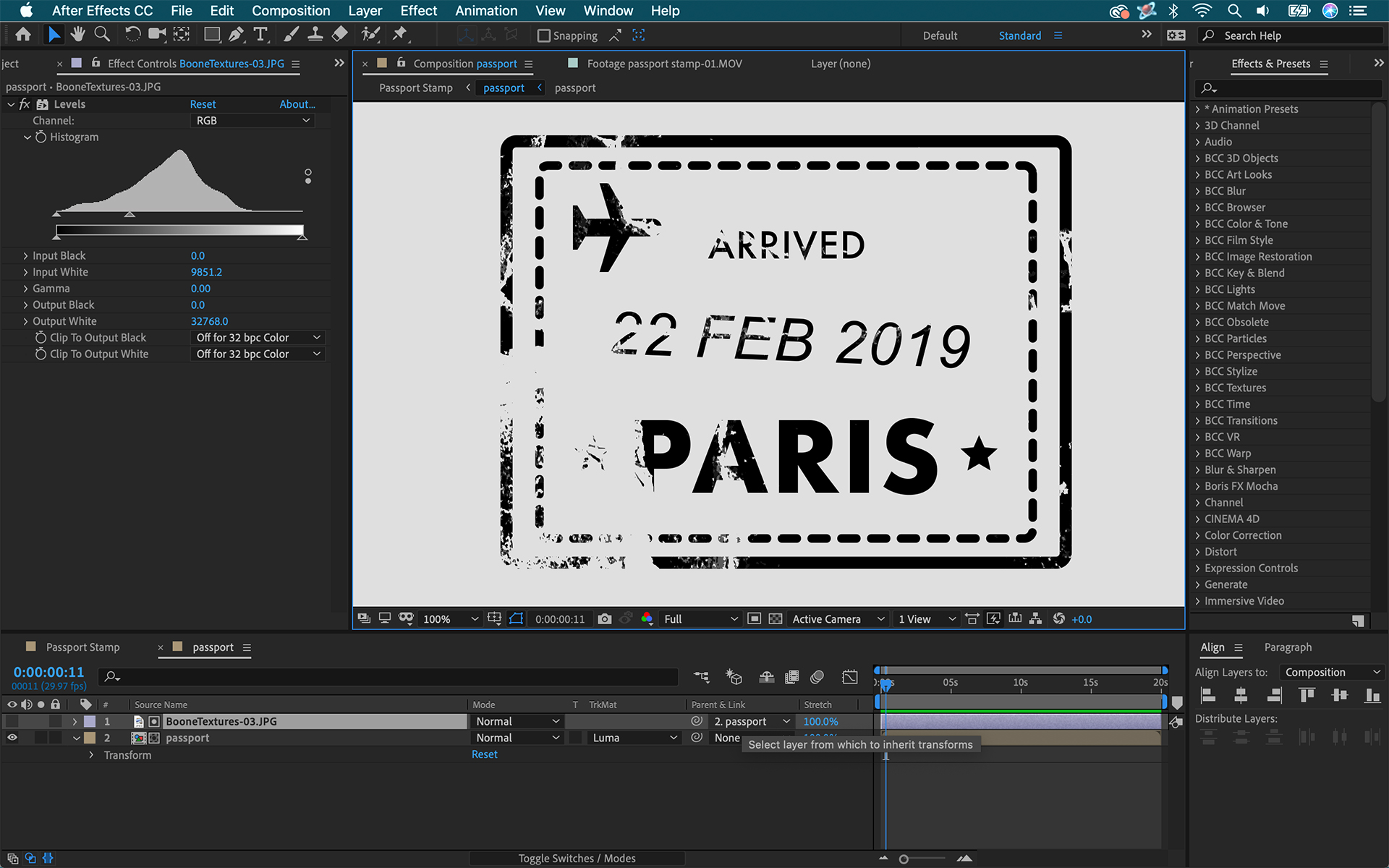 Add Texture to Graphics in Adobe After Effects