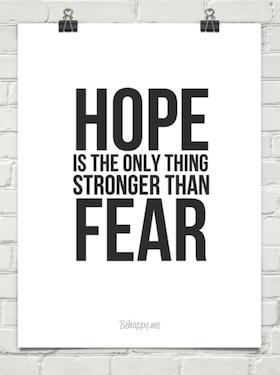 ความหวังกับความกลัว