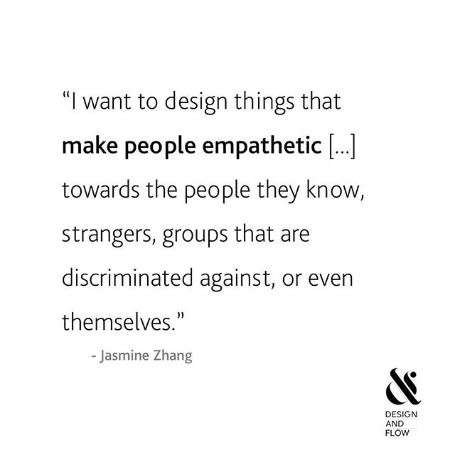 """I want to design things that make people empathetic. I'm not too sure what those things are yet, but I want people to leave my work feeling more empathetic towards the people they know, strangers, groups that are discriminated against, or even themselves."" - Jasmine Zhang, Communications Design @parsonsschoolofdesign"