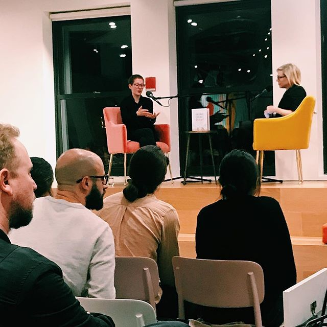 Wonderful talk this weekend at the @wix playground, @giorgialupi author of #DearData and #ObserveCollectDraw speaking with @debbiemillman about data big and small, what it means to be a woman leader in design, and how we can use #data to explore #humanism in new ways! #addflow #wixplayground #giorgialupi #designmatters