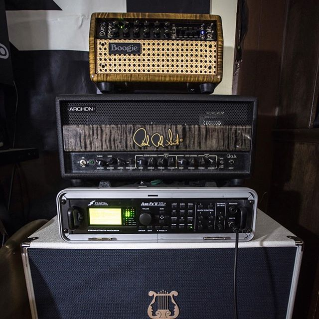 Tower of power from @_the_night_owl ! #sirensoundcabinets #sirensound #guitar #guitarcab #mesaboogie #prs #fractal