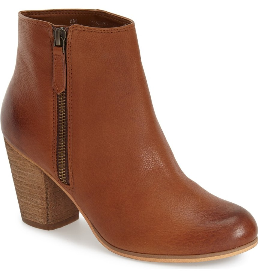 BP Brown Leather Bootie