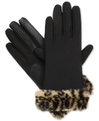 Isotoner Signature Boxed Fur         Cuff Spandex SmarTouch Tech                        Gloves