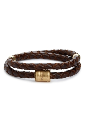 HIM: Braided Leather Bracelet