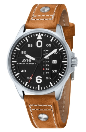 HIM: Leather Band Wrist Watch