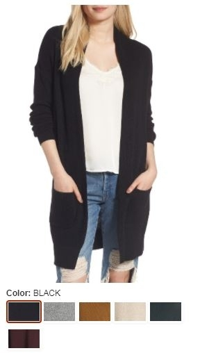 BP. Lightweight Rib Stitched Cardigan