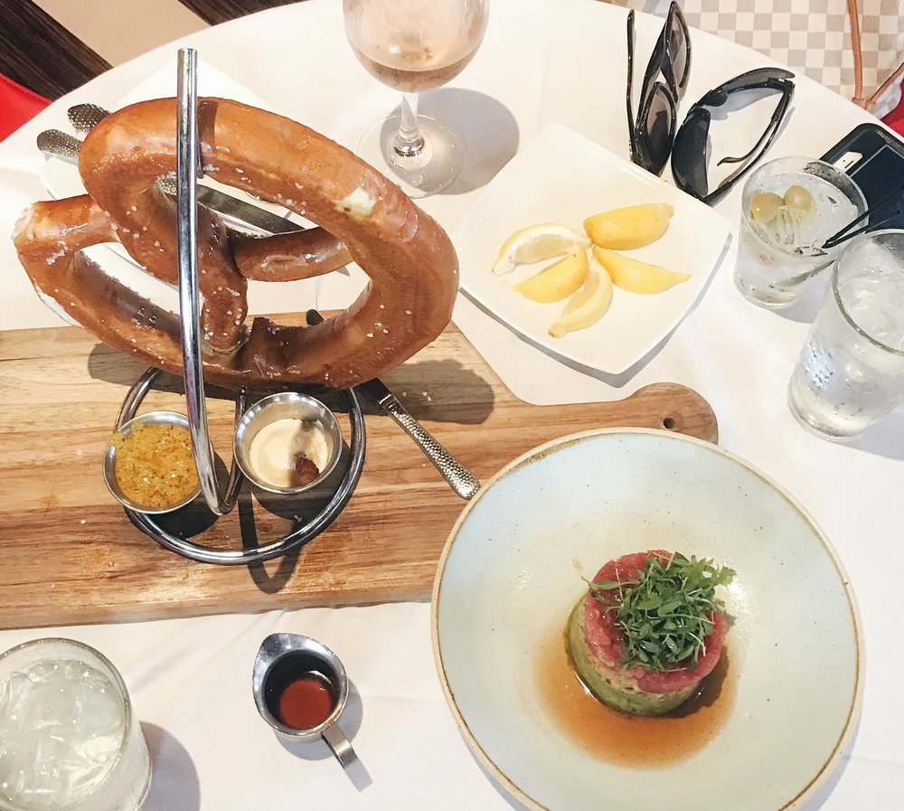 The Tuna Tartare & Colossal Pretzel