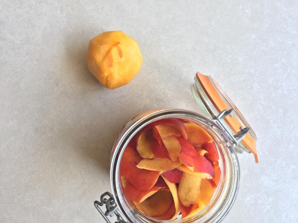 Peach infused vinegar