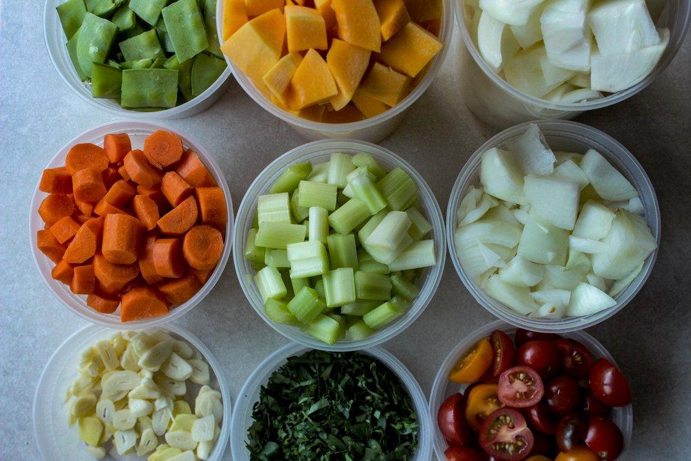 Mise en Place- Cut Vegetables