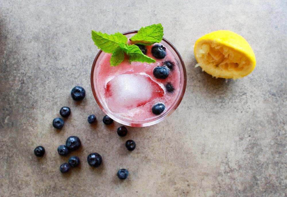 Blueberry+Ginger Lemonade