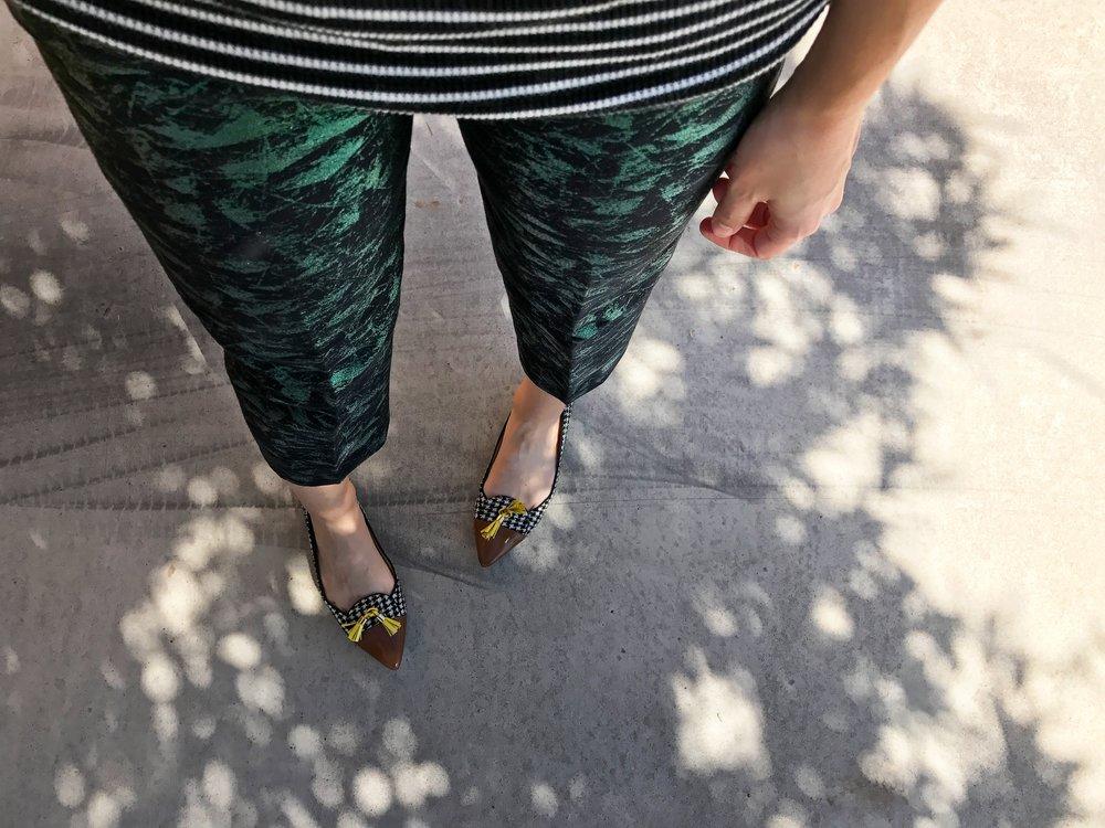 work wear + pattern play