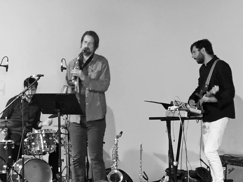 Lie Very Still at the Improvisation Summit of Portland, OR, 2018. John C. Savage-woodwinds and compositions, Mike Gamble-guitar, Ken Ollis-drums