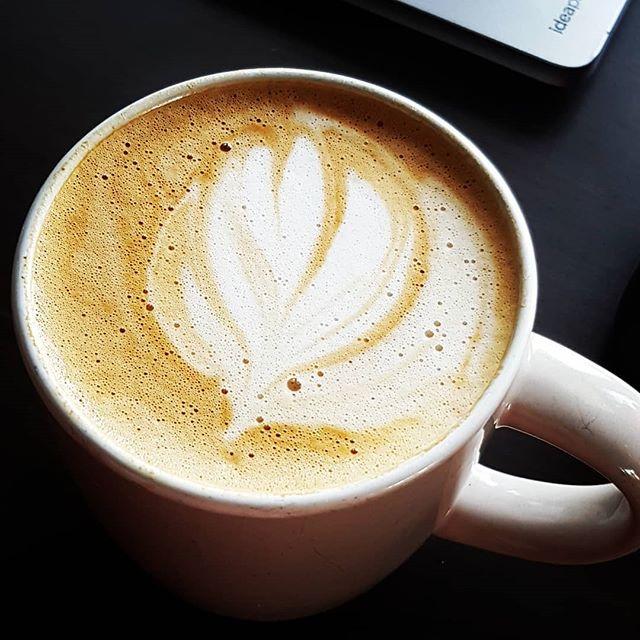 Getting better at latte art! 👌☕