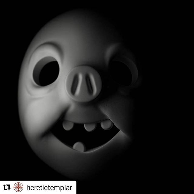 """#Repost @heretictemplar rendered this 👏👏👏👏 ・・・ Wip """"Dertog"""" from the comic book """"No Room for a Marauder"""" by @worserbeings  #digitalart #mask #comic #zbrush #3dart #3dmodel  #blackandwhite #vray #autodesk #3dsmax #pixologic #vscocam #sculpure #shadow #shadow"""