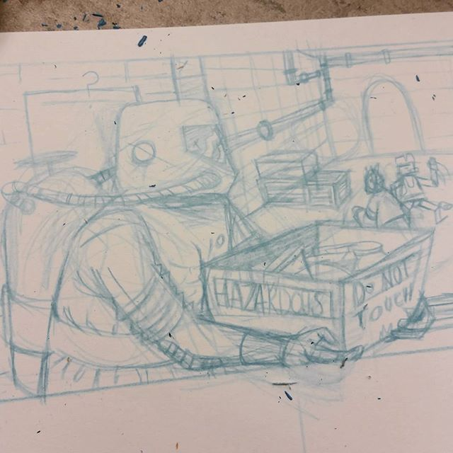 """""""I'm not really sure what I've stumbled across and quite frankly it makes me uncomfortable. I must assert authority""""  #drawing #art #illustration #comics #comicart #robotdance"""