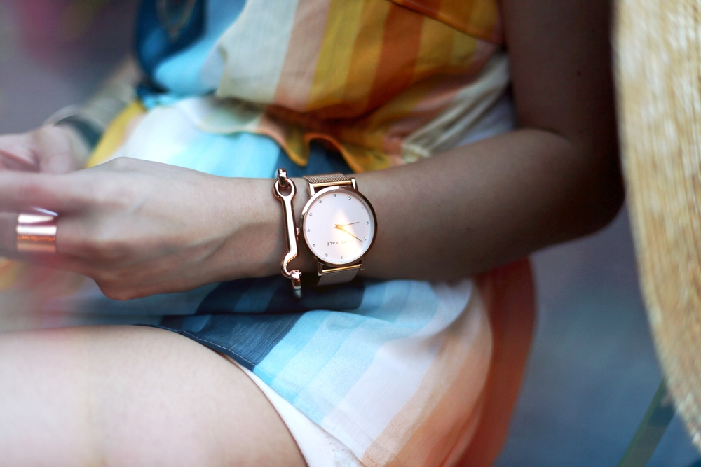 Marc Bale Rose Gold Watch_The Peach Box Modern Latch Bangle_Aikas Love Closet_Seattle Fashion Blogger from Japan
