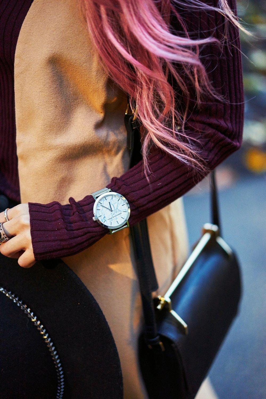 Christian Paul Marble Watch 43MM HAYMAN MARBLE MESH_Aika's Love Closet_Seattle Fashion Blogger_Japanese_Pink Hair