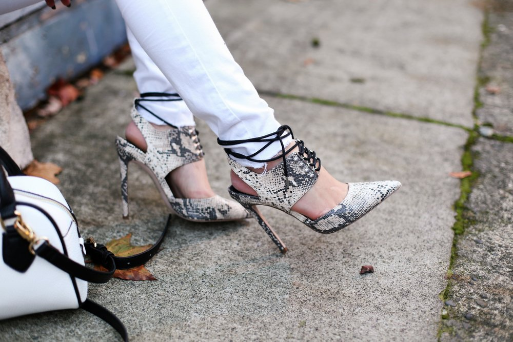 ASOS Snake Skin Heels_Aika's Love Closet_Seattle Fashion Blogger_Japanese_Pink Hair_Colored Hair