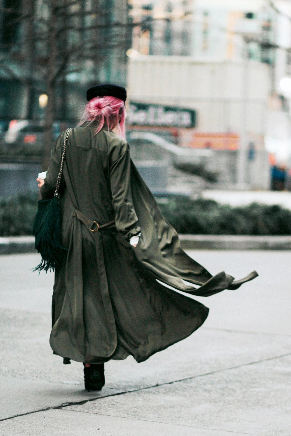 Isabel Marant newsboy hat_Zara Top_Urban Outfitters Slip Dress_Camo Jeans_Free People Mirrored Sunglasses_DVF Silk Shirt Dress_ASOS pointed lace up booties_Aikas Love Closet_Seattle Fashion Style blogger_Japanese_Pink Hair 10