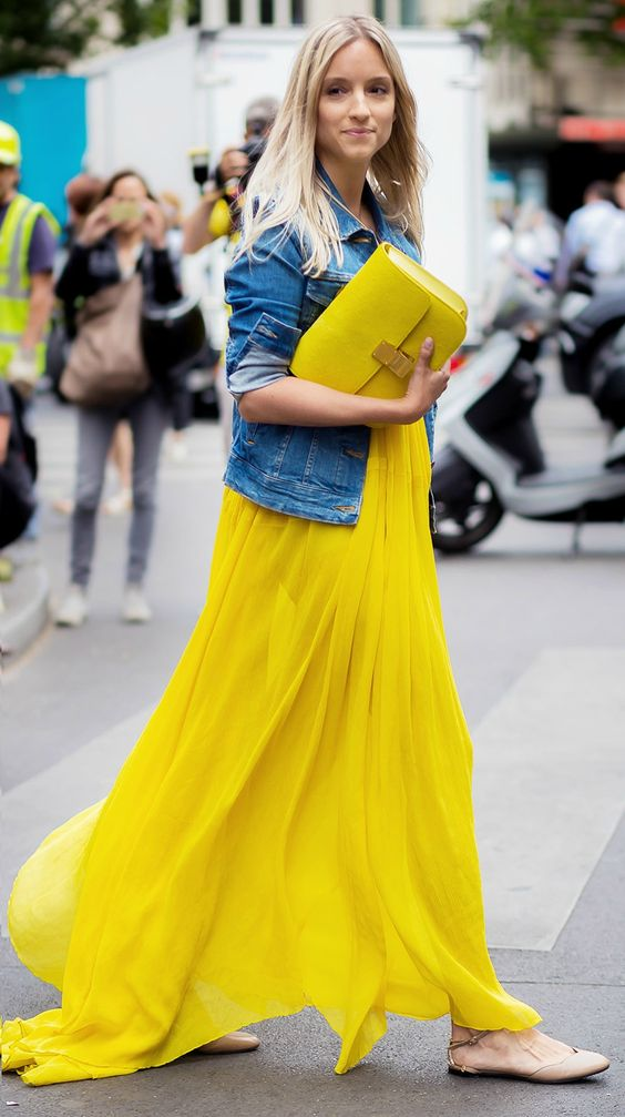 Yellow maxi dress  and Yellow celine bag - street style- inspiration - aikas love closet-seattle style blogger-japanese.jpg