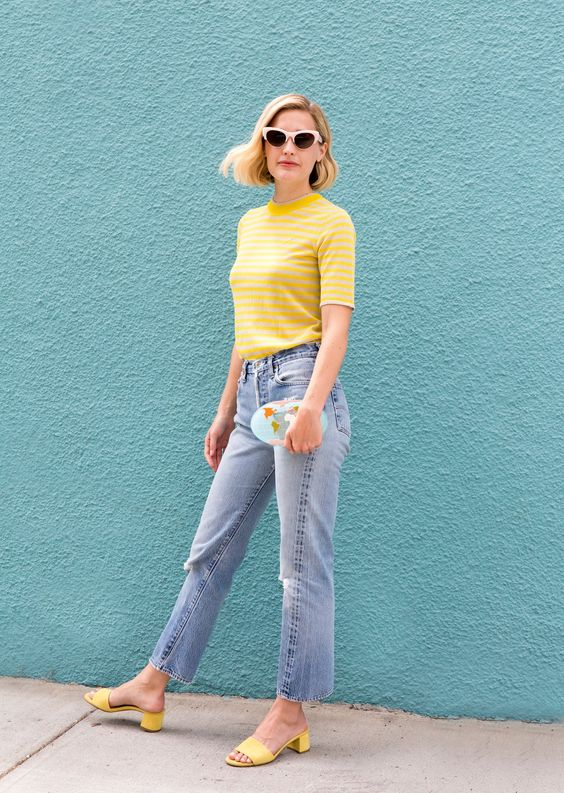 Yellow mules and yellow top- street style - inspiration - aikas love closet-seattle style blogger-japanese.jpg