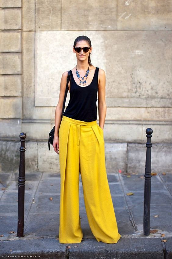 Yellow wide leg trousers - street style - inspiration-aikas love closet-seattle style blogger-japanese.jpg