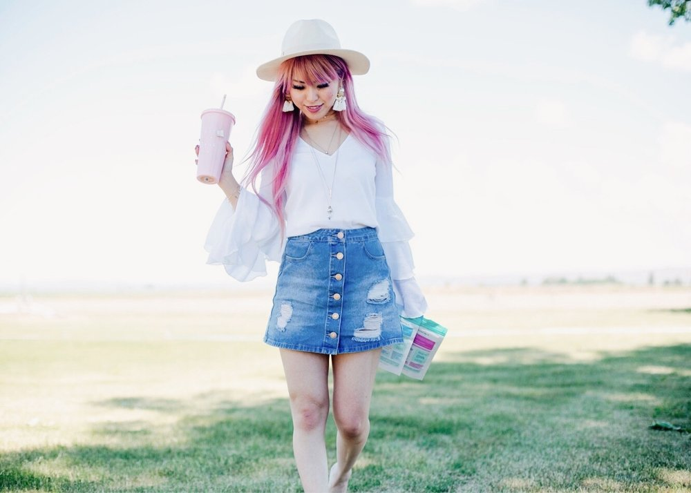 SkinnyMint Teatox - detox - exercise-healthy life style-all natural -Aika's Love Closet - Seattle Style Fashion Lifestyle Blogger - pink hair 4