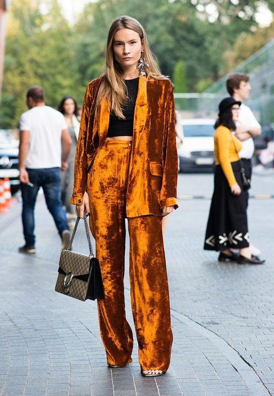 Top Velvet Fashion Trends for winter- aika's Love closet-japanese-seattle style fashion blogger-colored hair- orange velvet street snap.jpg