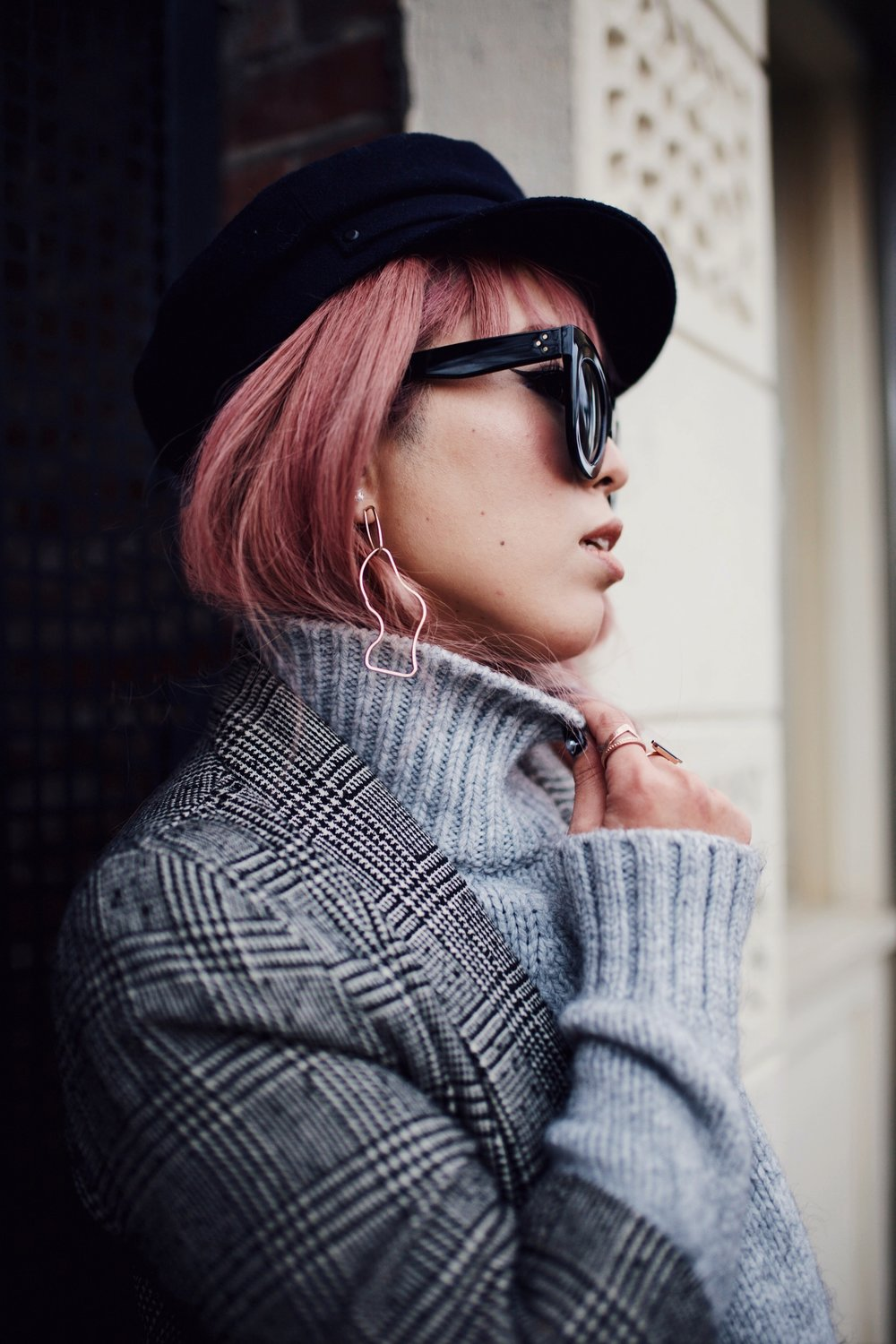 Mango Earrings- Aika's Love Closet-fisherman hat-pink hair-japanese-seattle fashion style blogger