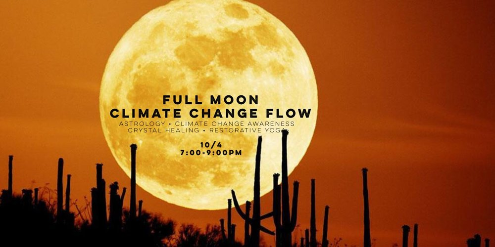 Yoga for Climate Change under the Full Moon! -
