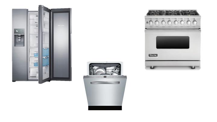 refrigerator /  range  /  dishwasher