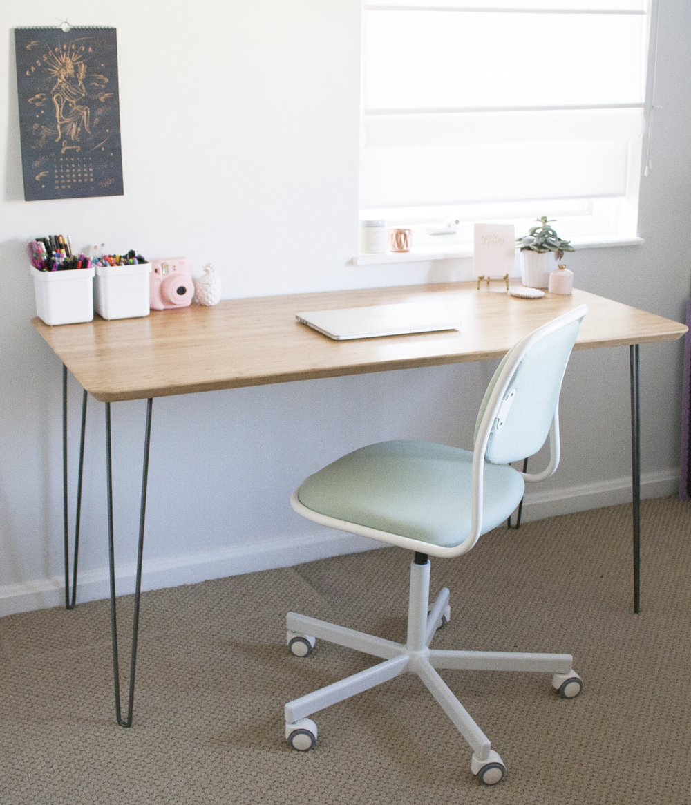 Ikea Hack Mid Century Modern Desk | Sarah Makes Stuff
