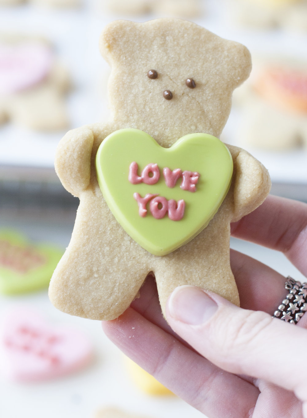conversation heart bears | sarah makes stuff