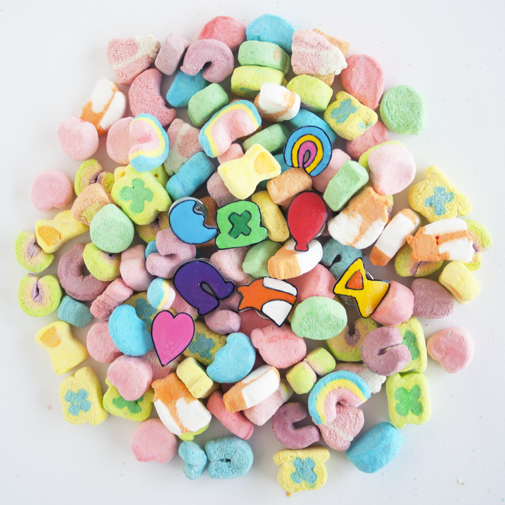 DIY Lucky Charms Pins | Sarah Makes Stuff