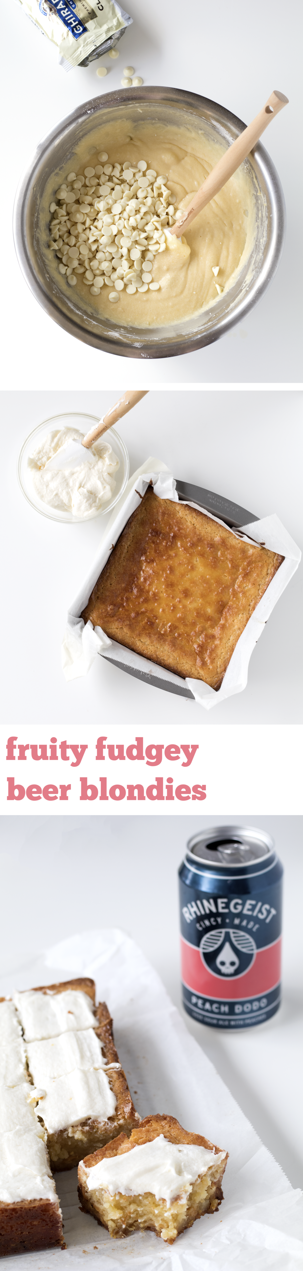 Fruity Fudgey Beer Blondies | Sarah Makes Stuff