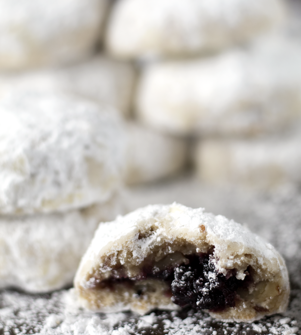 Castle Blackberry Jam Snowball Cookies | Sarah Makes Stuff