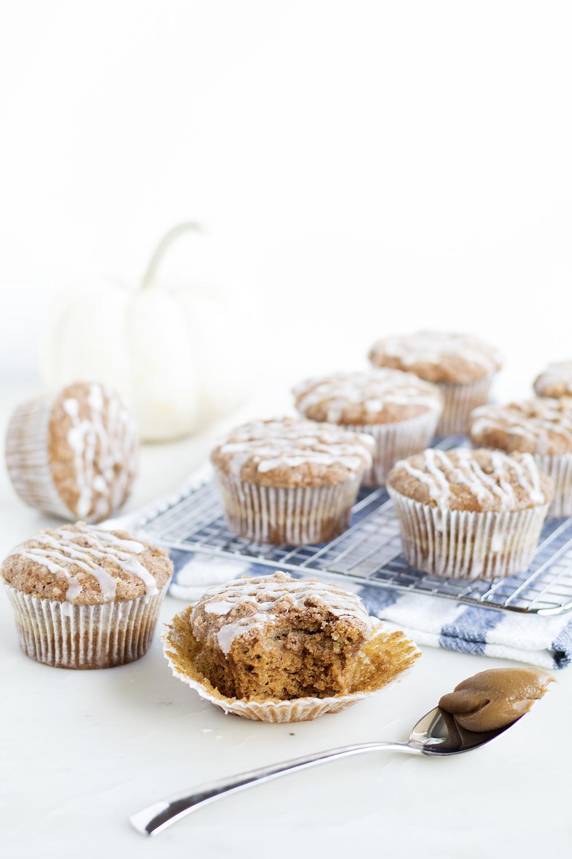 Biscoff Cream Cheese Pumpkin Muffins | Sarah Makes Stuff