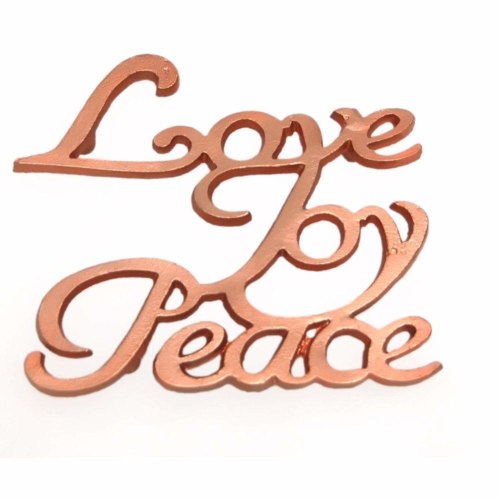 Peace, Joy & Love - Trivet