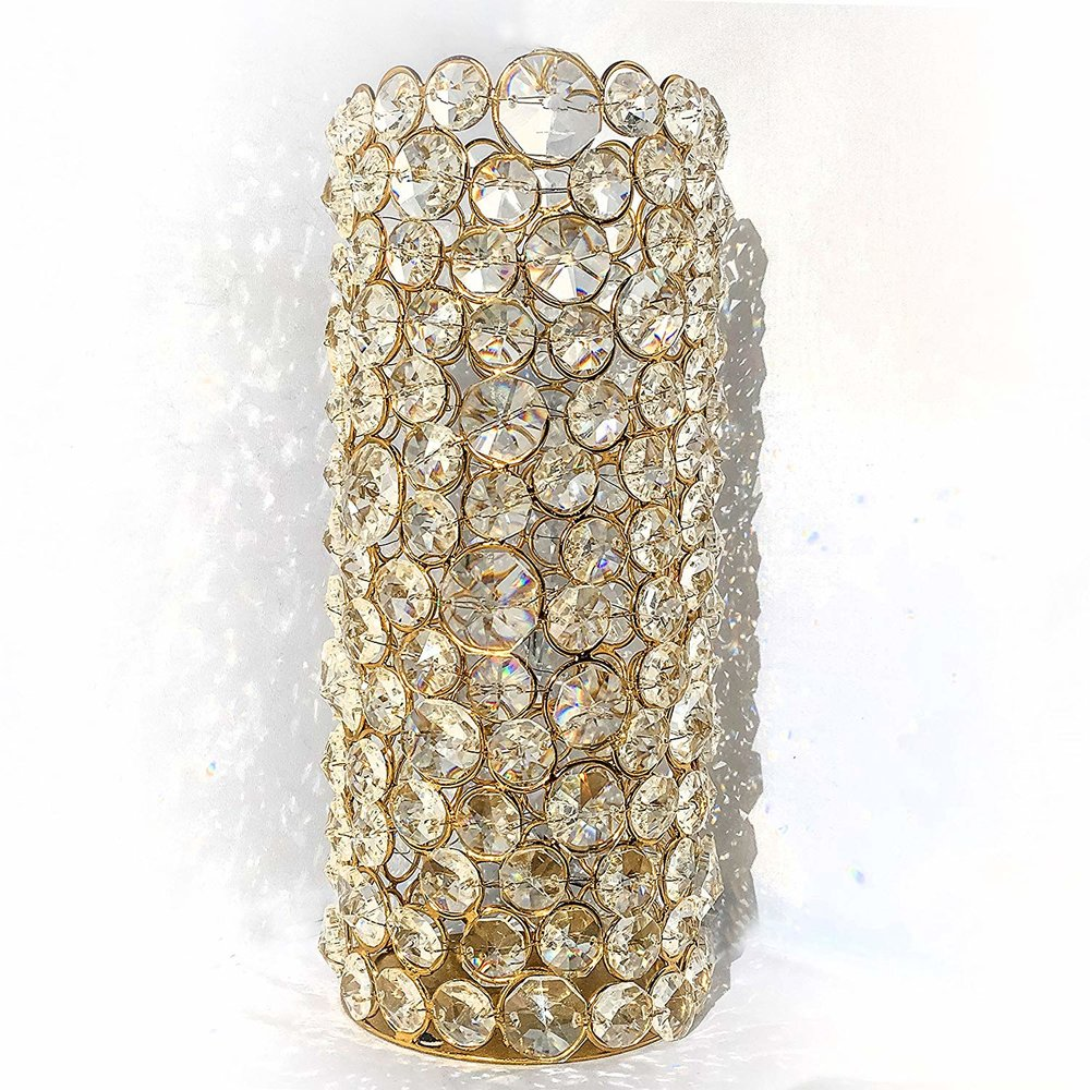 Grandioso Gold Crystal Candle Holder