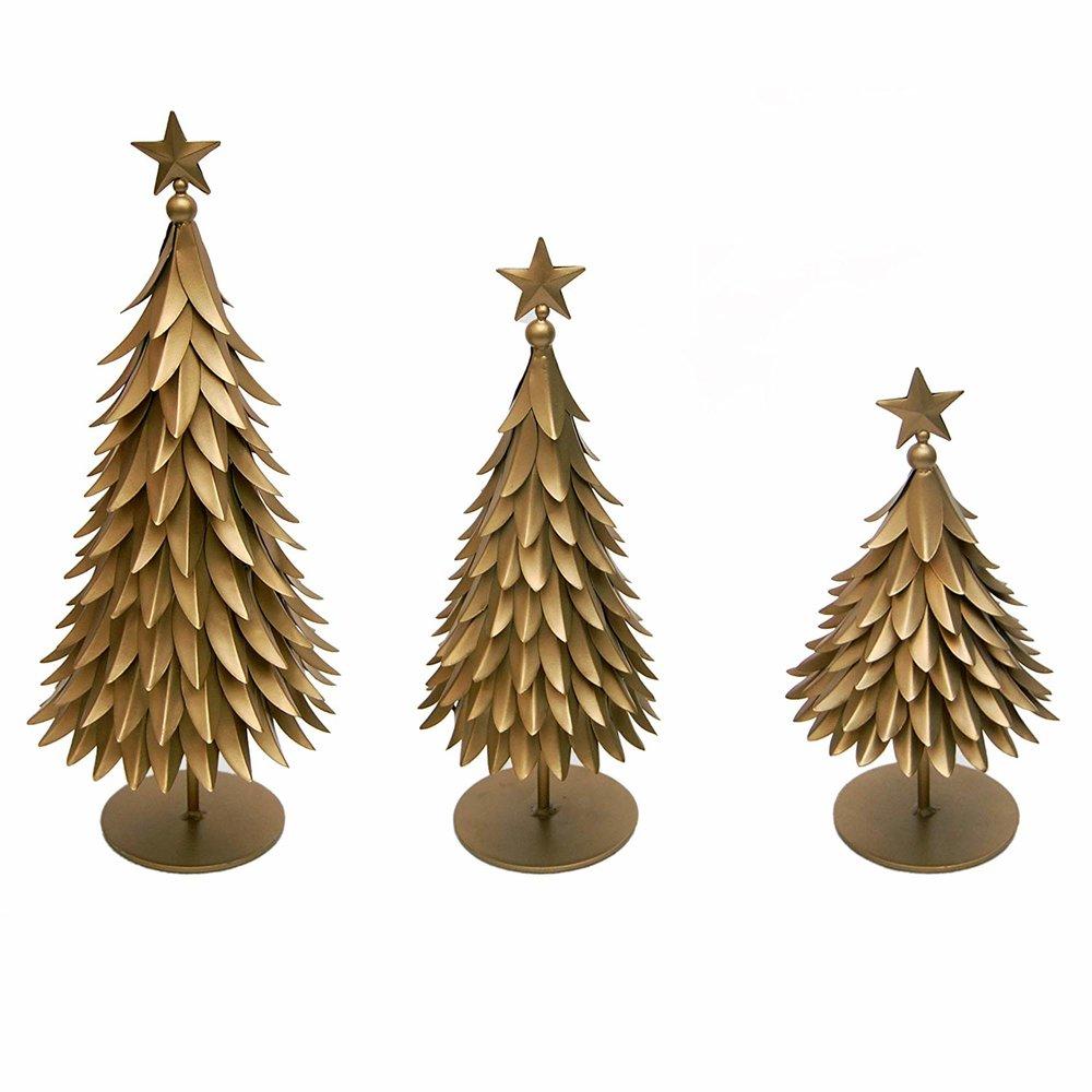 Gold Christmas Tree Figurines