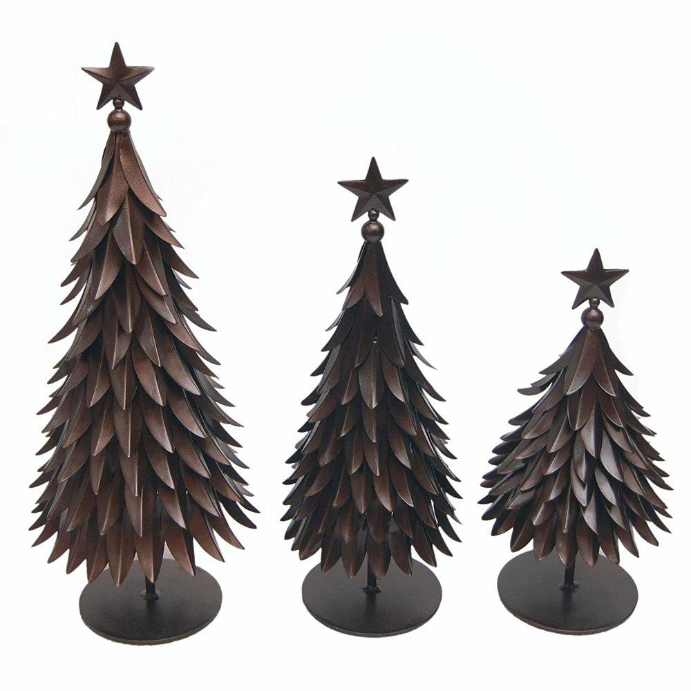 Bronze Christmas Tree Figurines