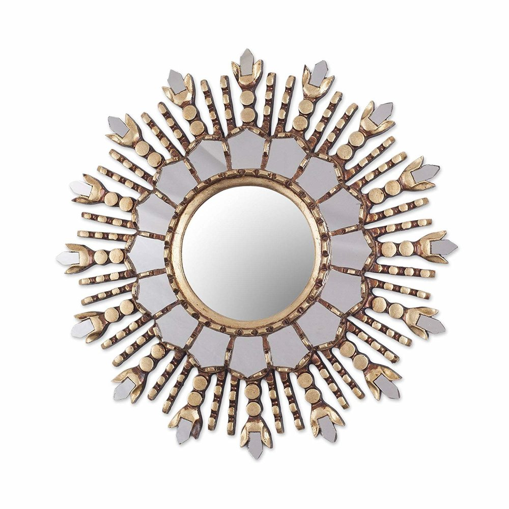 Feathered Wall Mirror