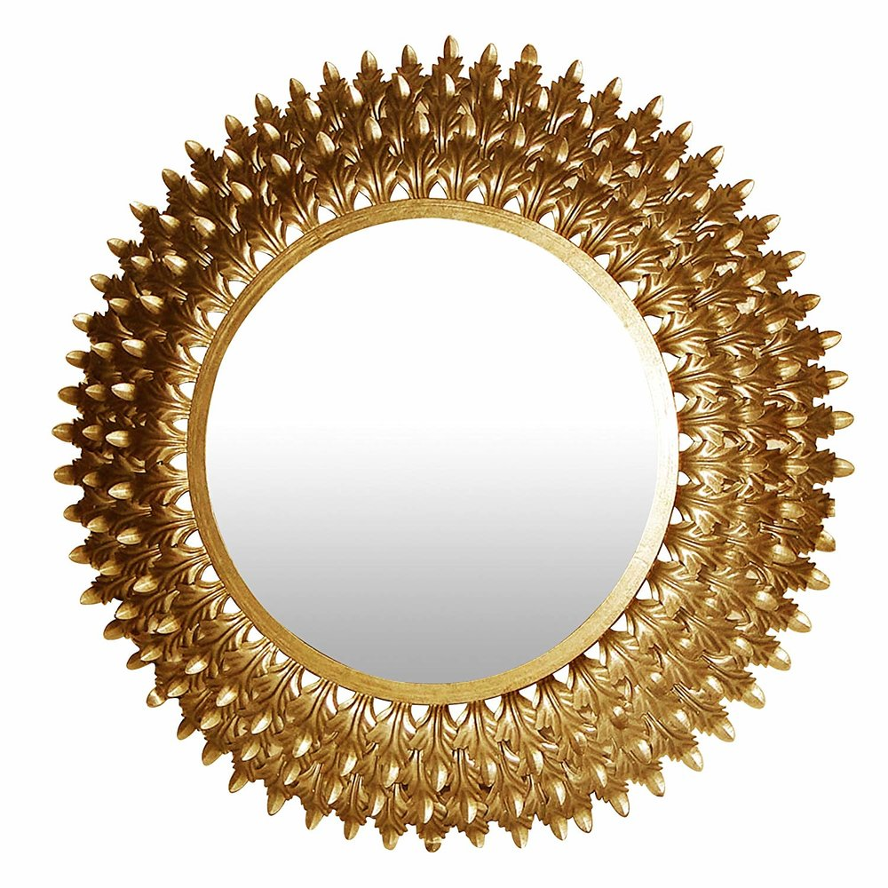 Golden Leaves Wall Mirror