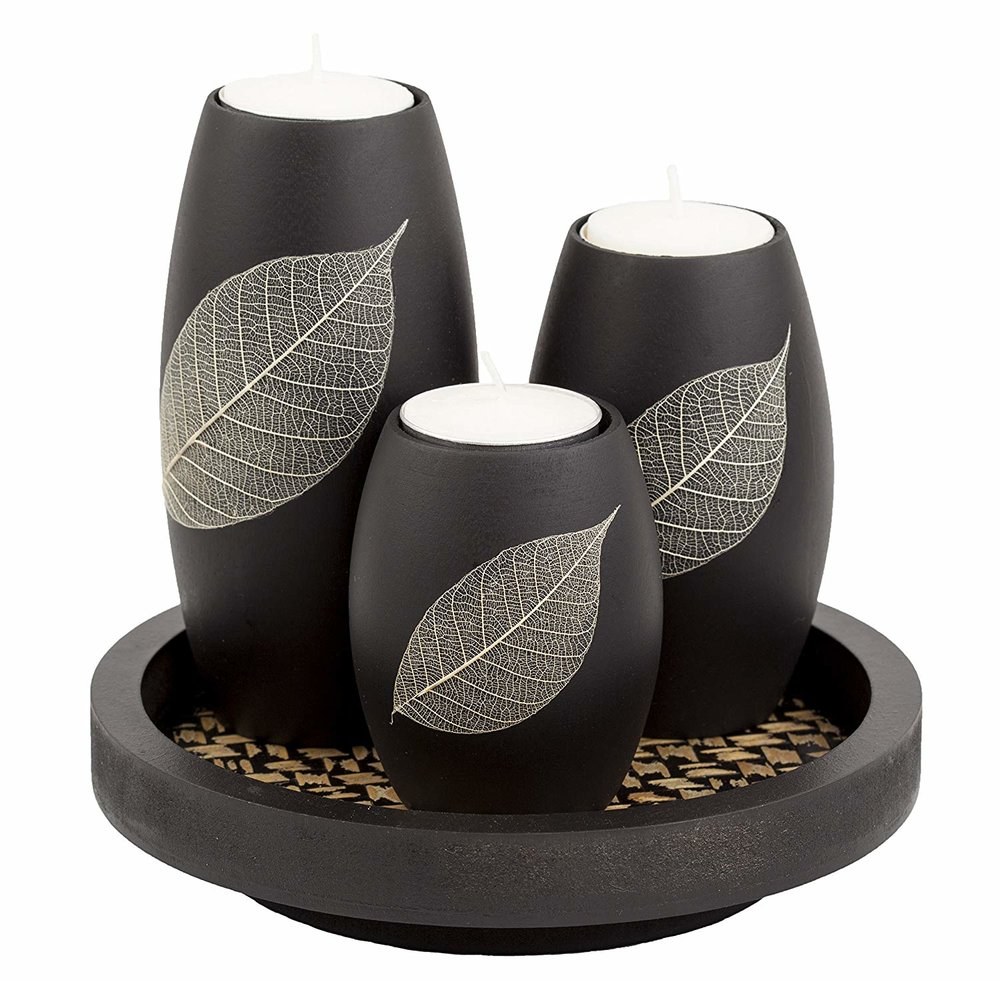 Leafy Goodness Candle Holder