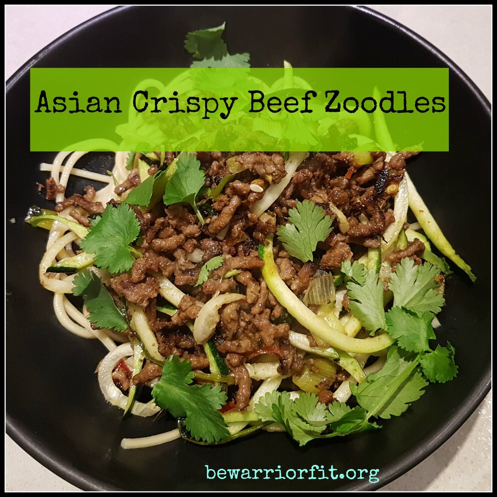 Asian Crispy Beef Zoodles pic