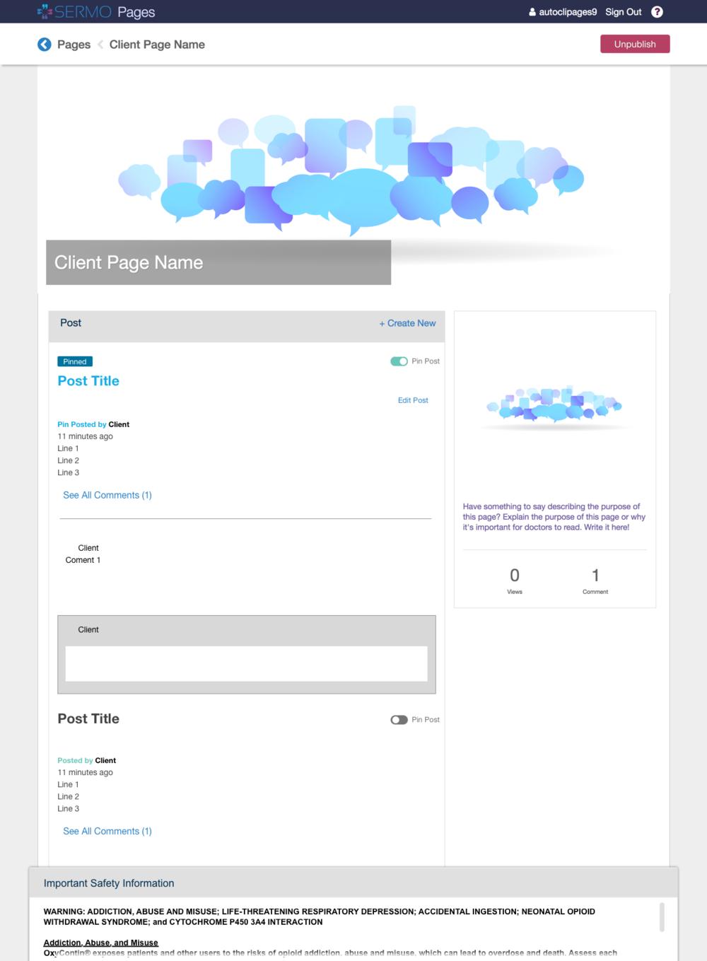 Client Portal View