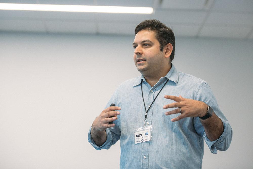 ProductCamp Cincinnati Vikram Speaking 3.JPG