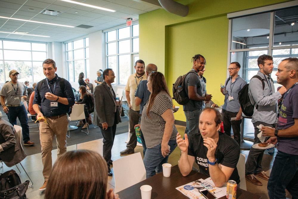 ProductCamp Cincinnati Breakfast Line.JPG