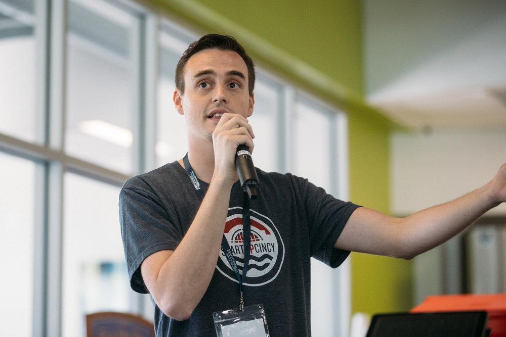 ProductCamp Cincinnati David Hollabaugh Speaking 2.JPG