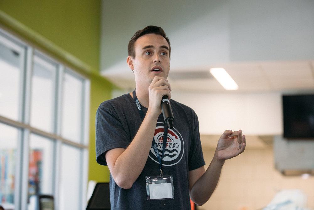 ProductCamp Cincinnati David Hollabaugh Speaking 3.JPG